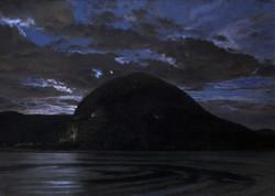 Storm King Moonset