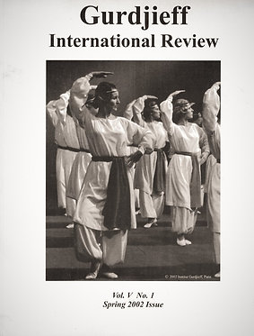 Gurdjieff International Review / Vol. V, No 1: A Teacher of Dancing