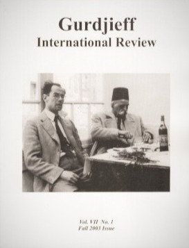 Gurdjieff International Review / Vol. VII, No. 1: The Movement of Transmission