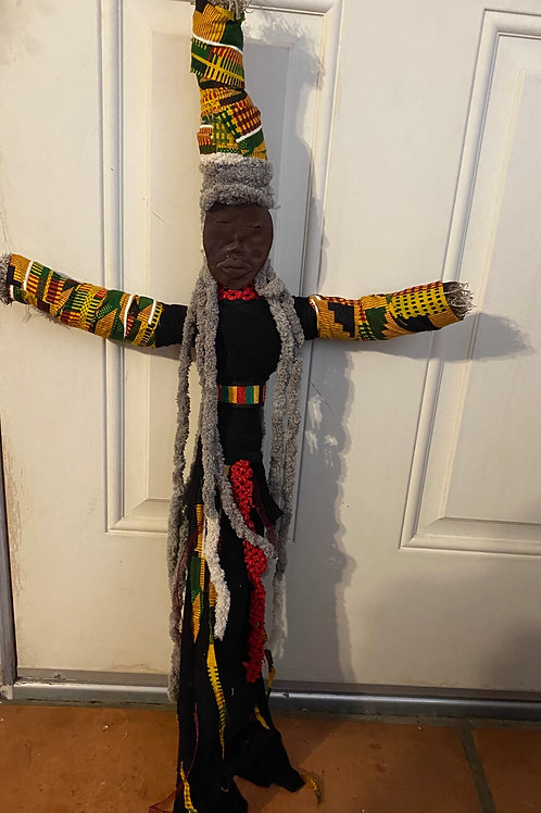 Protected. Ancestor Doll (Kente)