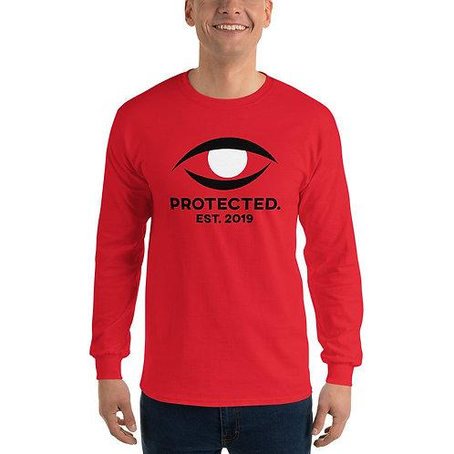 Protected. Eye Red Men's Long Sleeve Shirt