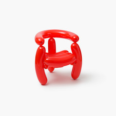 Blowing Series - Red Arm Chair