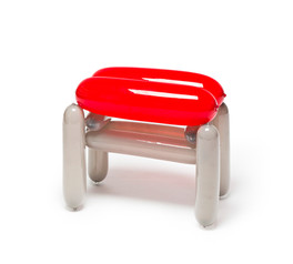 Blowing Series - Red Gray Stool