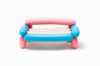 Blowing Series - Multicolor Bench Chair For Kids