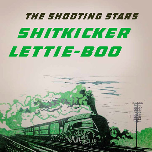 Shitkicker b/w Lettie Boo  7 inch single on red vinyl