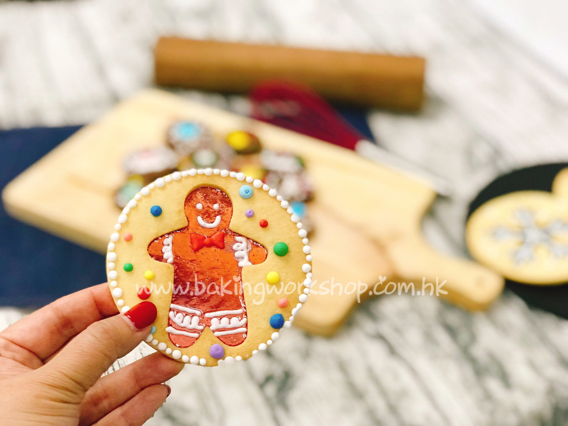 Christmas Gingerman Cookie