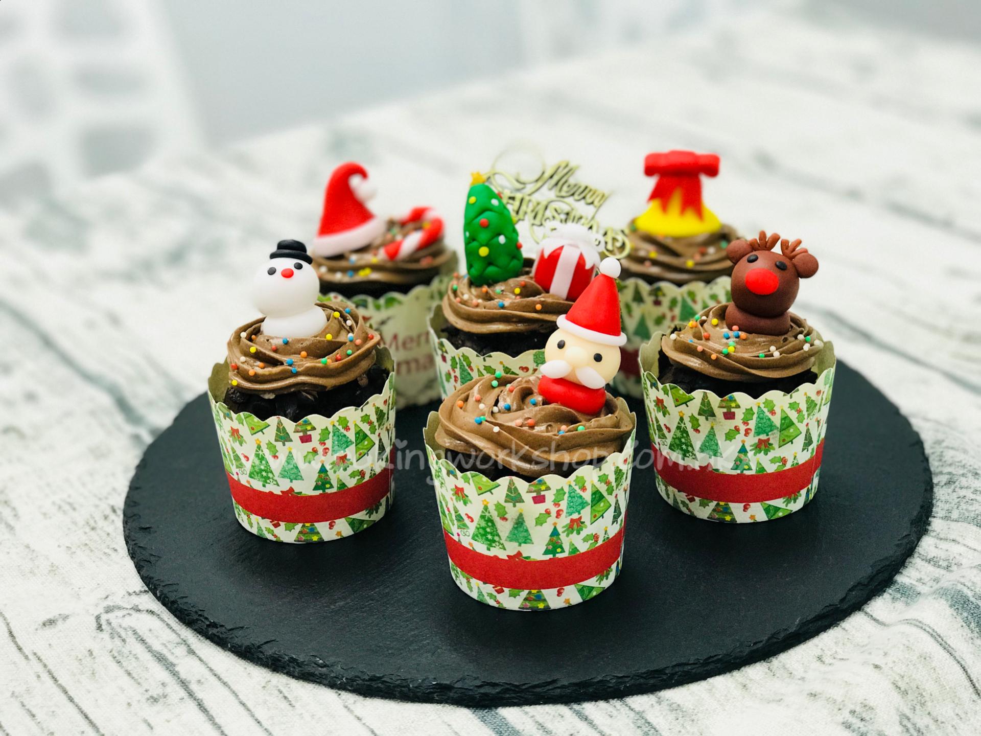 聖誕糖皮公仔朱古力muffins