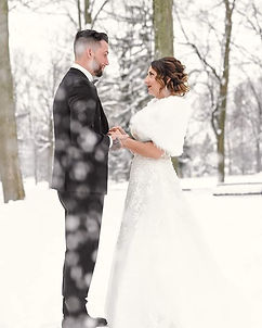 Une douce neige pour un mariage enchante