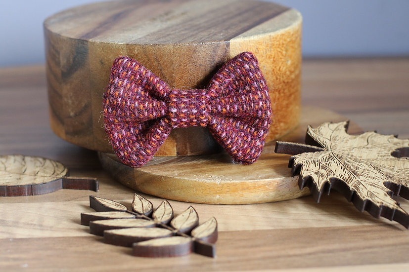 The Hocus Pocus Harris Tweed Bow