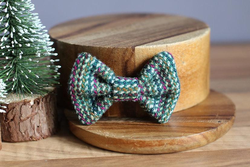 The Mistletoe and Wine Harris Tweed Bow
