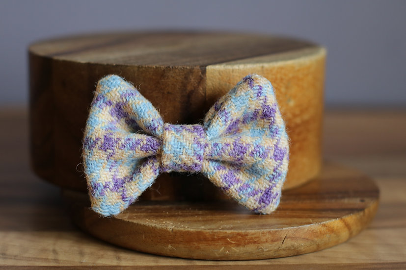 The Parma Violet Harris Tweed Bow