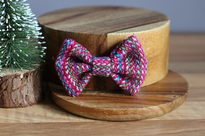 The Snow Fairy Harris Tweed Bow
