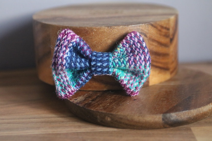 The Mixed Berries Harris Tweed Bow