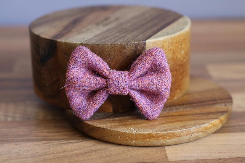 The Lychee Harris Tweed Bow