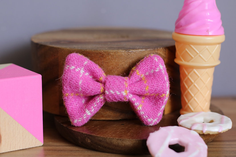 The Candy Floss Harris Tweed Bow