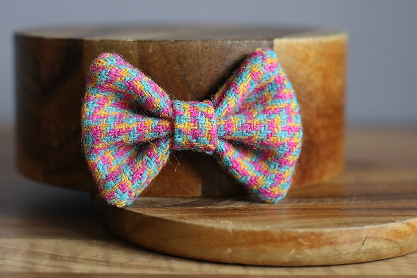 The Tropical Harris Tweed Bow