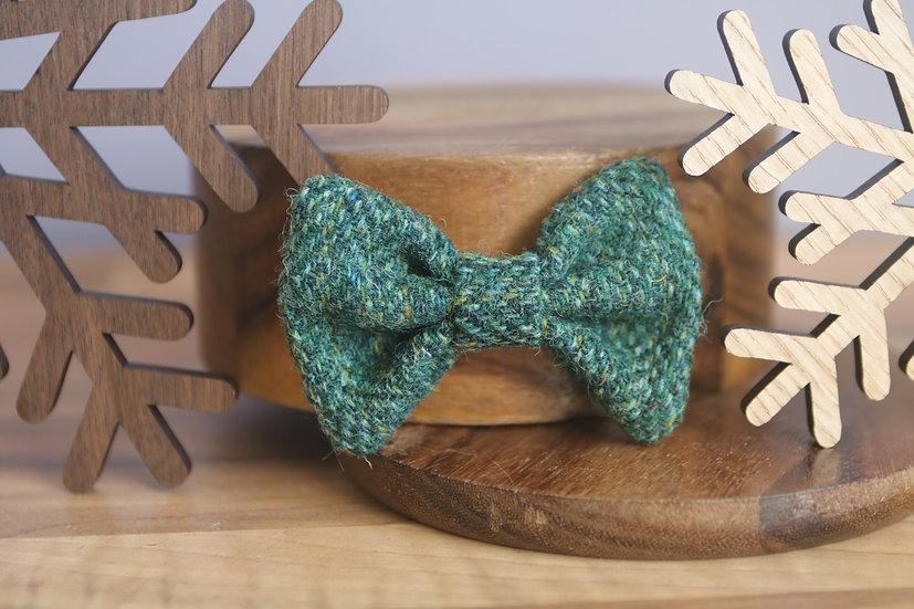The Evergreen Harris Tweed Bow