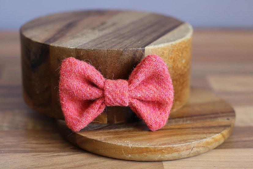 The Watermelon Harris Tweed Bow