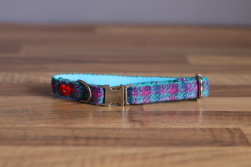 Extra Small Purple, Pink and Blue Collar
