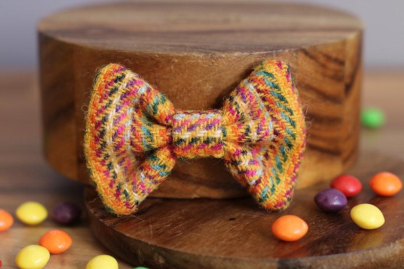 The Skittle Harris Tweed Bow