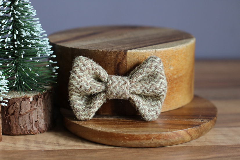 The Milk and Cookies Harris Tweed Bow