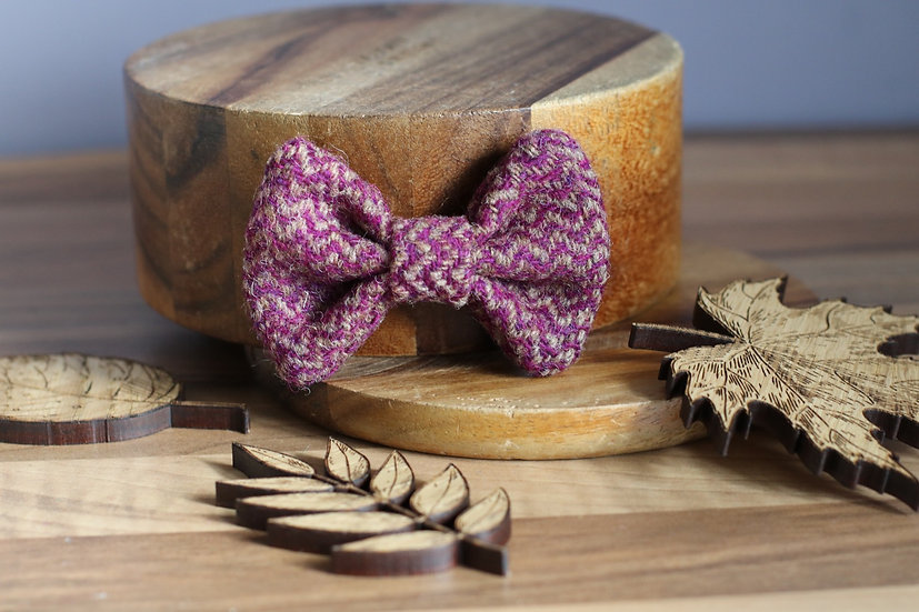 The Figgy Pudding Harris Tweed Bow