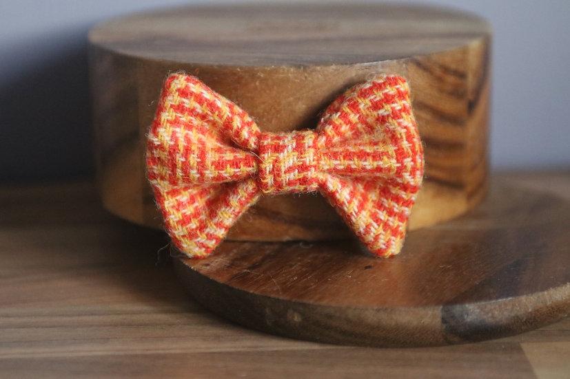 The Candy Corn Harris Tweed Bow