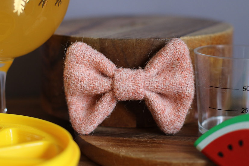 The Peach Bellini Harris Tweed Bow