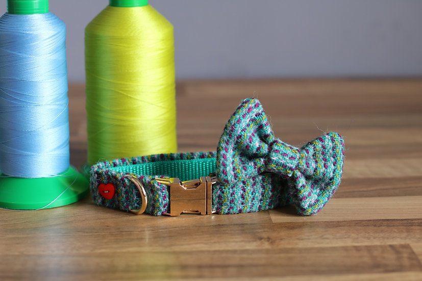 Small The Flying Saucer Collar and Bow