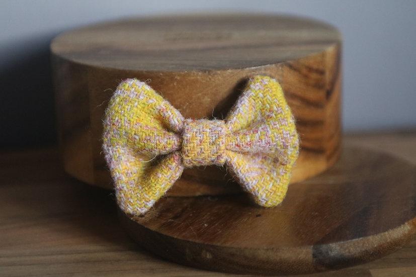 The Custard Cream Harris Tweed Bow
