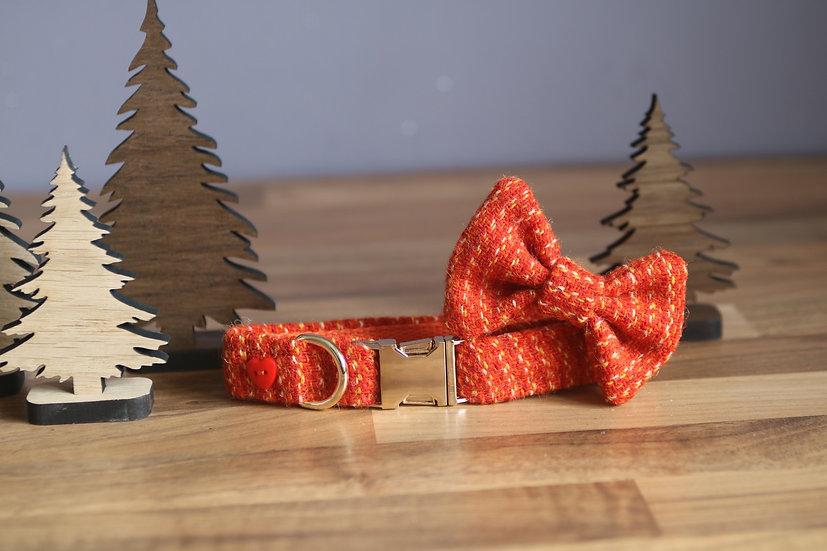 Small The Pumpkin Pie Collar and Bow