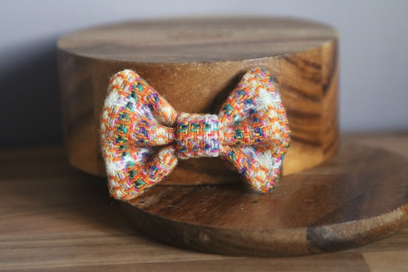The Trick or Treat Harris Tweed Bow