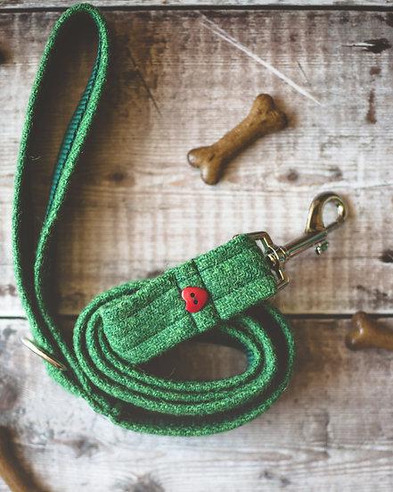 Green Harris Tweed Lead