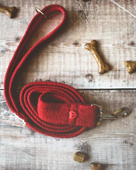 Red Harris Tweed Lead