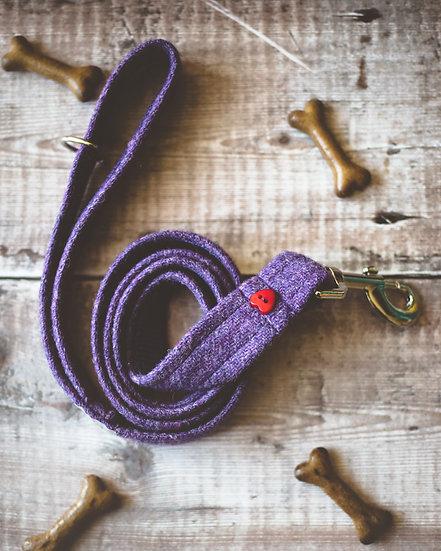 Purple Harris Tweed Lead