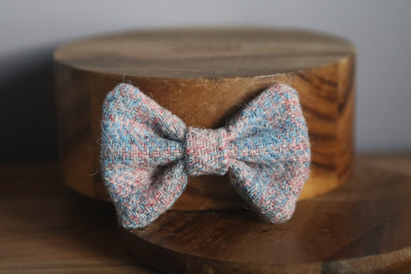 The Marshmallow Harris Tweed Bow