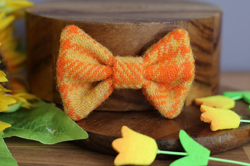 The Sunny Side Up Harris Tweed Bow