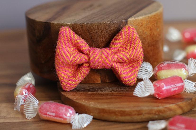The Rhubarb and Custard Harris Tweed Bow