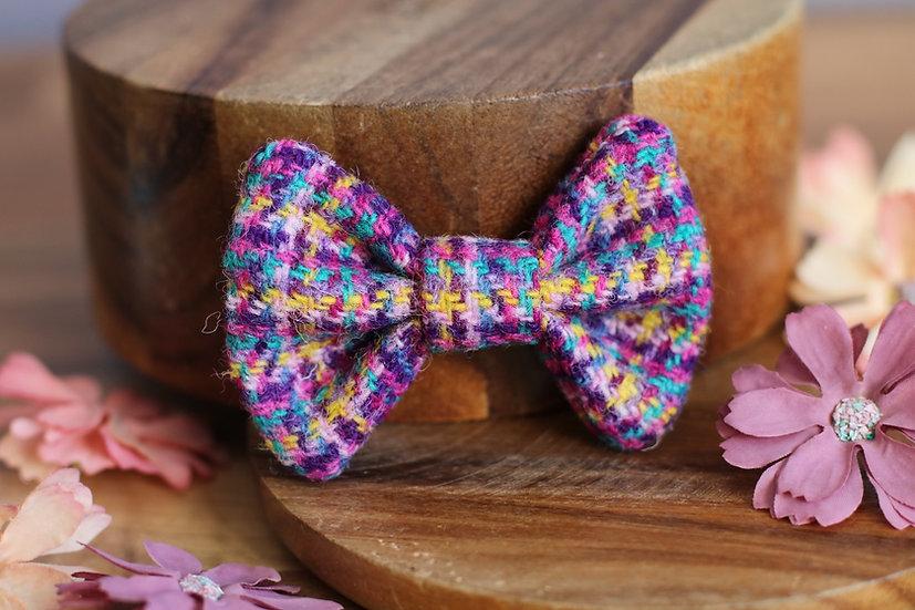 The Crocus Harris Tweed Bow