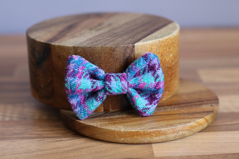 The Forget Me Not Harris Tweed Bow