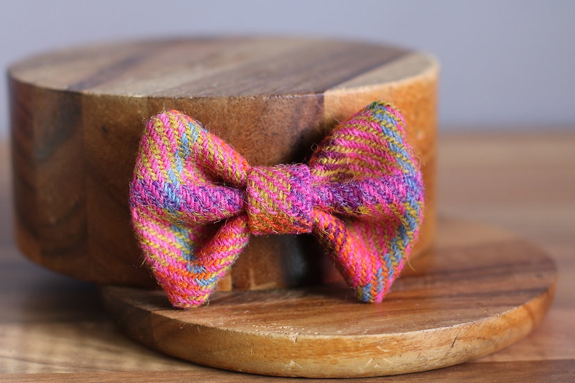The Tooty Fruity Harris Tweed Bow