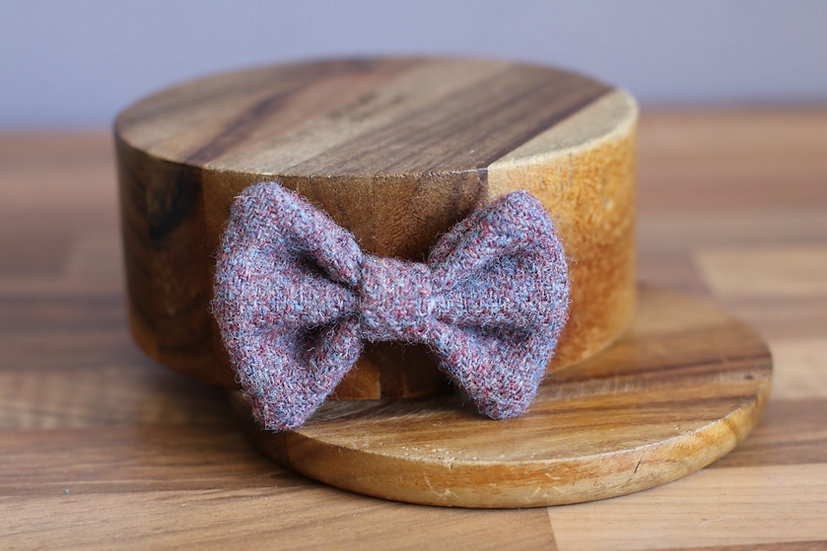 The Blueberry Harris Tweed Bow