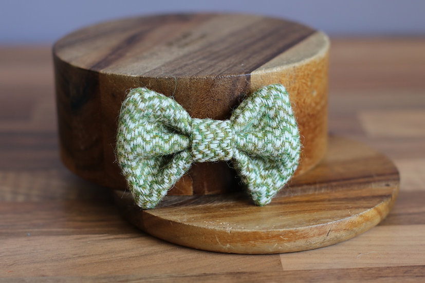 The Olive You Harris Tweed Bow