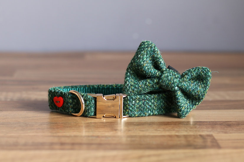 Small The Evergreen Collar and Bow