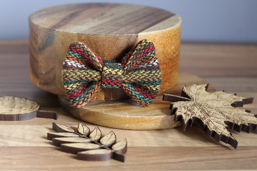 The Autumn Leaves Harris Tweed Bow