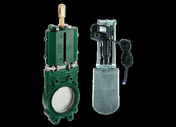 MZ-Plattenschieber mit elektrischem Zylinder