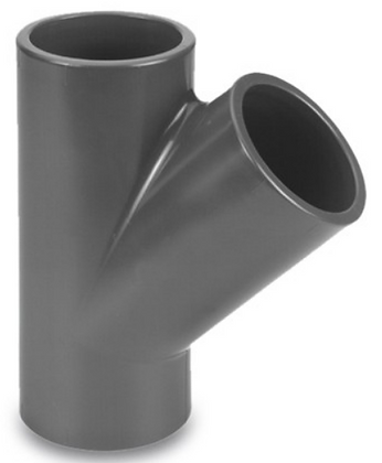 PVC-U T-Stück 45°