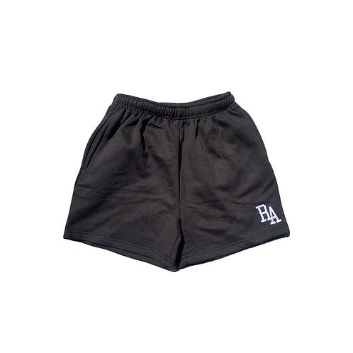 Black Sweat Pocket Shorts