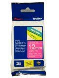 """Brother TZeMQP35 12mm (0.47"""") White on Berry Pink tape for P-touch 5m (16.4 ft)"""