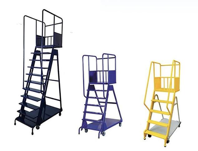 Several Sizes of Platform Ladders